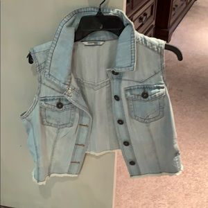 2/$20 Highway denim wash vest
